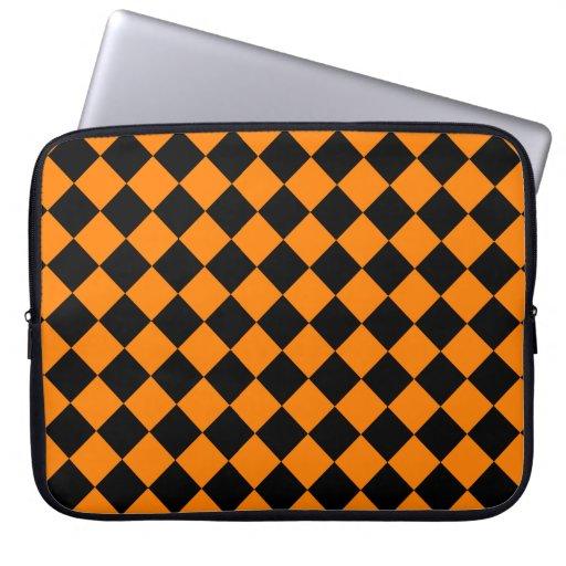 Diseño diagonal anaranjado y negro del tablero de  mangas portátiles