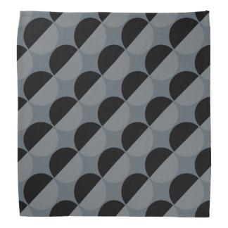 Diseño diagonal del medio lunar en pañuelo bandanas