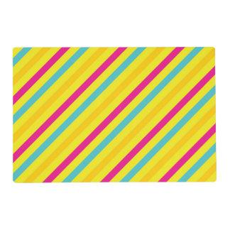 Diseño diagonal multi del amarillo de la raya tapete individual