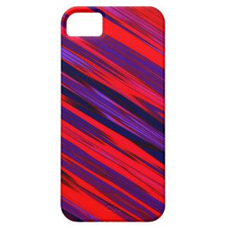Diseño diagonal rojo y azul de la raya iPhone 5 carcasa
