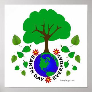 Diseño diario del Día de la Tierra Póster