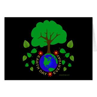 Diseño diario del Día de la Tierra Tarjeta De Felicitación