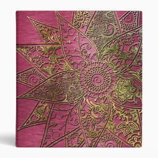 """Diseño dibujado mano de moda linda de la alheña de carpeta 1"""""""