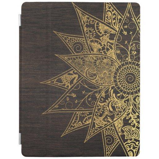 Diseño dibujado mano de moda linda de la alheña de cover de iPad