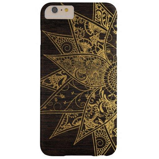 Diseño dibujado mano de moda linda de la alheña de funda de iPhone 6 plus barely there