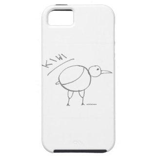 diseño dibujado mano del pájaro del kiwi por solid iPhone 5 Case-Mate carcasa