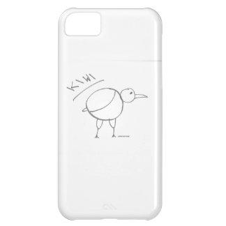 diseño dibujado mano del pájaro del kiwi por solid