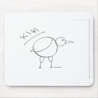 diseño dibujado mano del pájaro del kiwi por solid alfombrillas de ratón