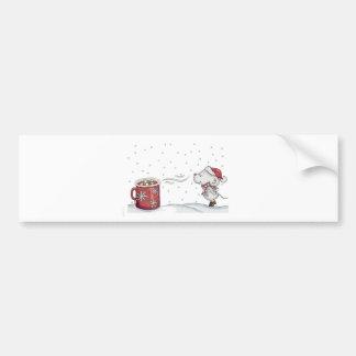 Diseño dibujado mano linda del ratón para el navid pegatina de parachoque