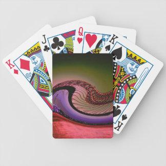 Diseño digital abstracto, ondas y giros baraja cartas de poker