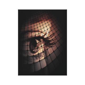 Diseño digital artístico del ojo del arte impresiones en lona estiradas