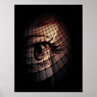 Diseño digital artístico del ojo del arte póster