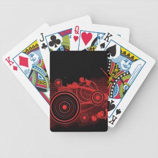 Diseño digital negro rojo del arte cartas de juego