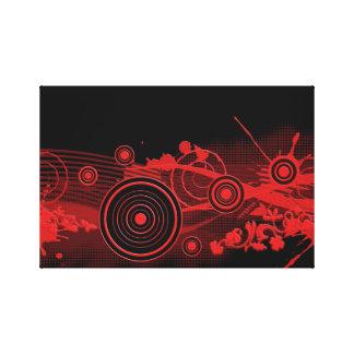 Diseño digital negro rojo del arte lona estirada galerias