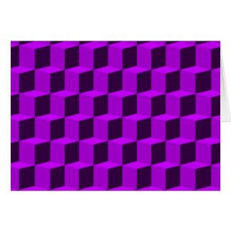 Diseño dimensional del modelo 3D del cubo 3 Tarjeta De Felicitación