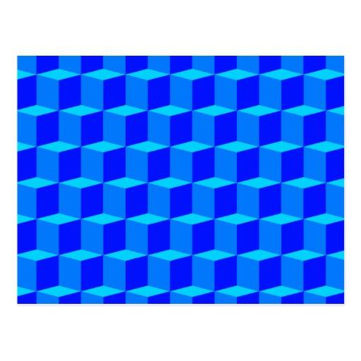 Diseño dimensional del modelo 3D del cubo 3 Postales