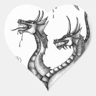 Diseño dirigido tres del Hydra Pegatina En Forma De Corazón