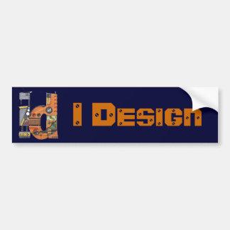 Diseño diseño industrial pegatina para auto