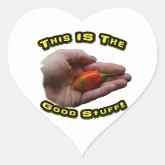 Diseño disponible del pimiento picante del calcomanías de corazones personalizadas
