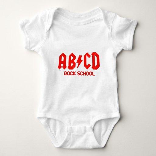 diseño divertido abcd rock school body para bebé