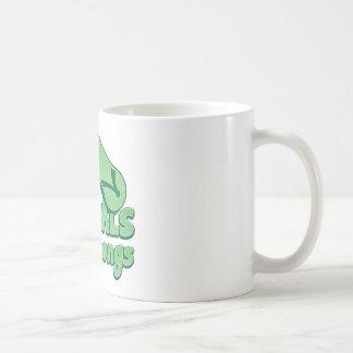 Diseño divertido australiano del kiwi de las taza básica blanca