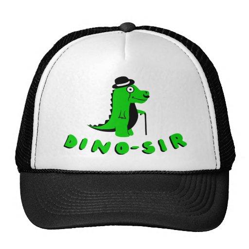 Diseño divertido de DINO-SIR Gorro De Camionero