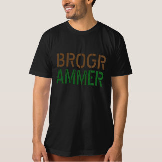 Diseño divertido de la camiseta de Brogrammer Remera