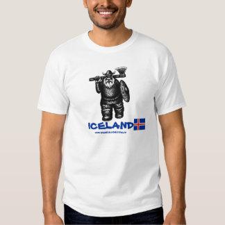 Diseño divertido de la camiseta de vikingo Islandi Playeras