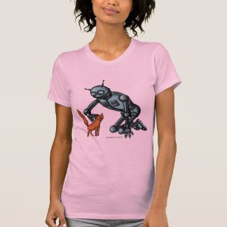 Diseño divertido de la camiseta del robot y del