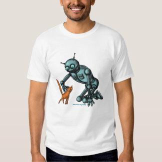 Diseño divertido de la camiseta del robot y del playeras
