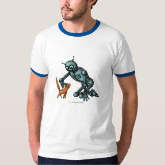 Diseño divertido de la camiseta del robot y del remeras