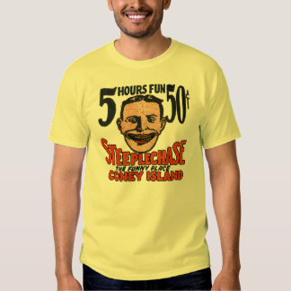 Diseño divertido de la cara de Coney Island del Camisas