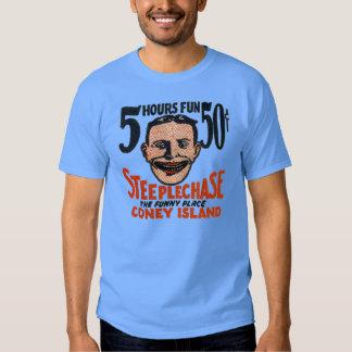 Diseño divertido de la cara de Coney Island del Playera