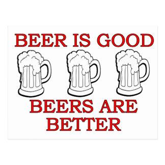 Diseño divertido de la cerveza postales
