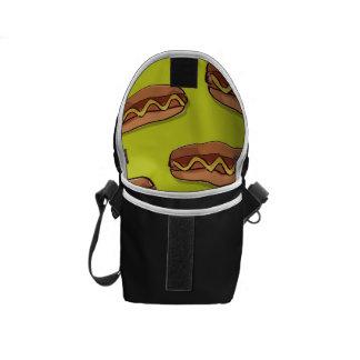 Diseño divertido de la comida de perrito caliente bolsa de mensajería