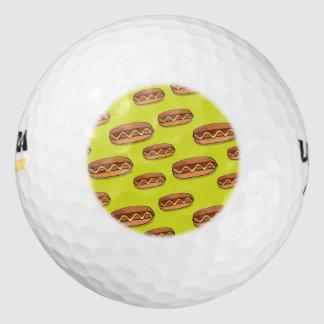 Diseño divertido de la comida de perrito caliente pack de pelotas de golf