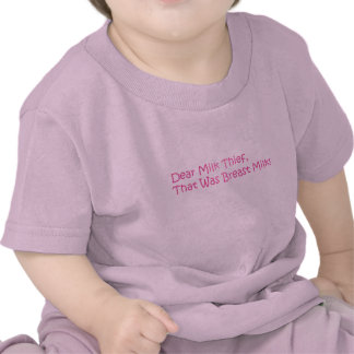 Diseño divertido de la leche materna camiseta