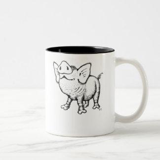 Diseño divertido de la taza de café del cerdo