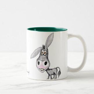 Diseño divertido de la taza del burro