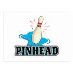 diseño divertido de los bolos de la cabeza de alfi tarjetas postales