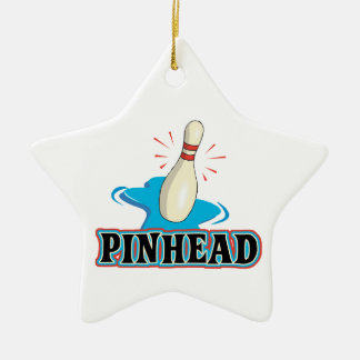 diseño divertido de los bolos de la cabeza de adorno de cerámica en forma de estrella