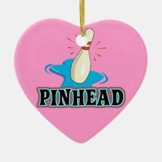 diseño divertido de los bolos de la cabeza de adorno de cerámica en forma de corazón