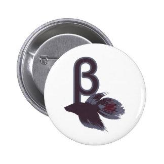 Diseño divertido de los pescados beta de Betta Pin
