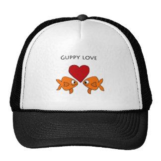 Diseño divertido del amor del Guppy Gorra