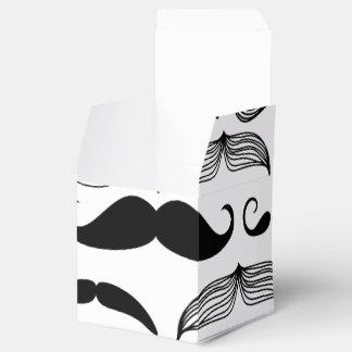 Diseño divertido del bigote caja para regalo de boda