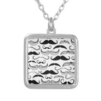 Diseño divertido del bigote colgante cuadrado