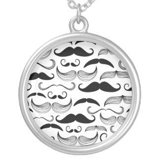 Diseño divertido del bigote colgante redondo