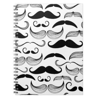Diseño divertido del bigote libros de apuntes