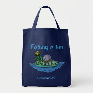 Diseño divertido del bolso de los pescadores extra bolsas