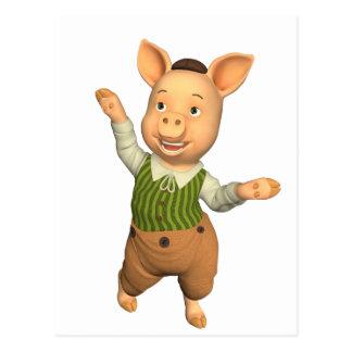 Diseño divertido del cerdo postales